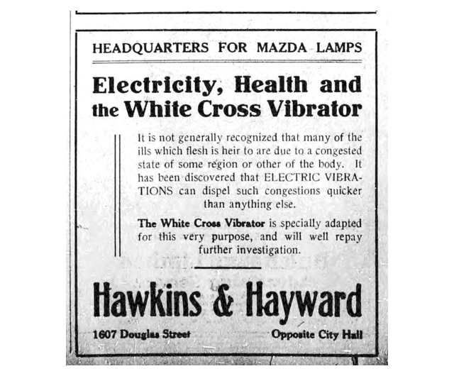 What Edwardian household is complete without an electric vibrator to soothe the many 'ills which the flesh is heir to'?